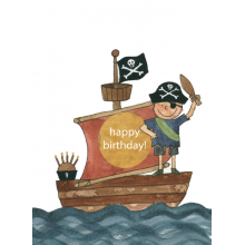 pirate boy boat birthday happy candles