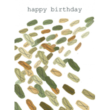 Birthday card, fish, clean water, green, ocean, sea